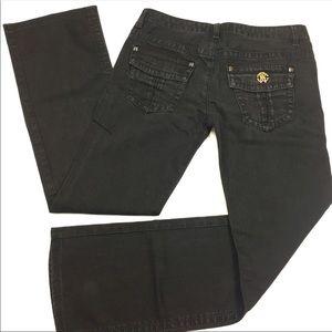 Roberto Cavalli Black Bootcut Flap Pocket Jeans